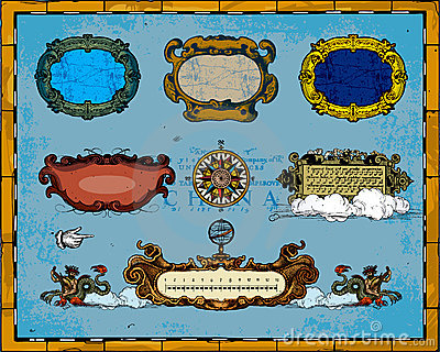 Antique Map Frame Decorations