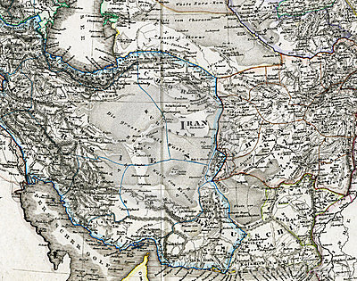 Antique Map of Iran Afghanistan