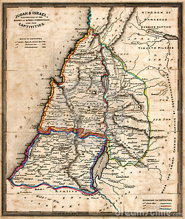 Antique Map of Old Israel