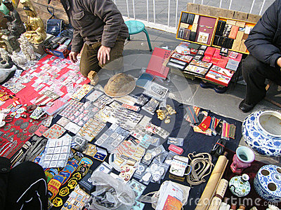 Antique market Editorial Stock Image