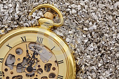 Antique mechanical pocket watch.