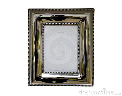 Antique metal picture and photo frame
