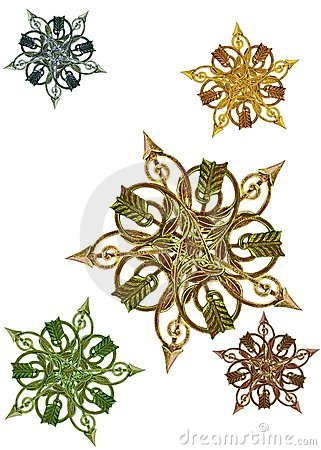 Free Antique Metalwork As Stars, Medallions Stock Images - 19261864