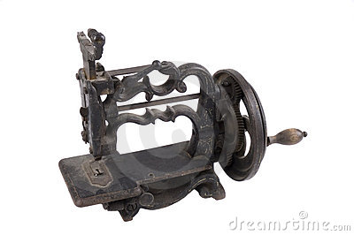 Antique minature hand crank sewing machine