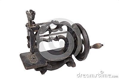 Antique minature hand crank sewing machine