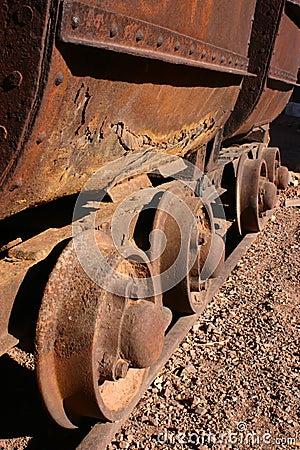 Free Antique Mining Car Wheels Stock Photo - 1703200