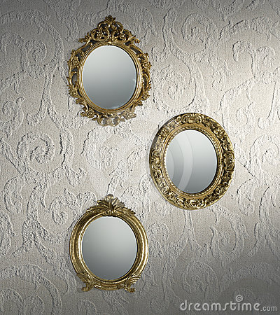 Antique mirrors wallpaper