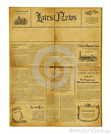 Free Antique Newspaper Template Stock Image - 24901371