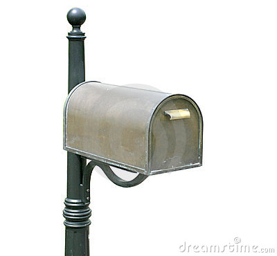 Antique, old mailbox