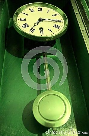 Free Antique Old Retro Pendulum Clock Royalty Free Stock Image - 11699956