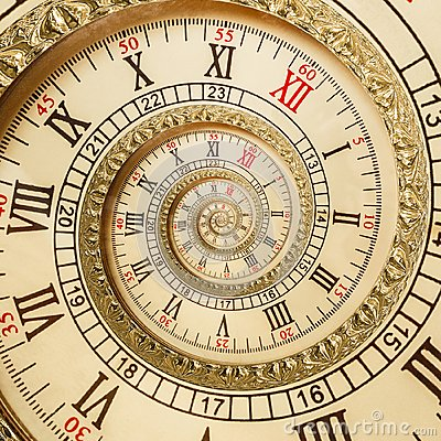 Free Antique Old Spiral Clocks Abstract Fractal Spiral. Watch Clock Spiral Unusual Texture Fractal Pattern Background. Golden Old Clock Royalty Free Stock Photography - 107940747