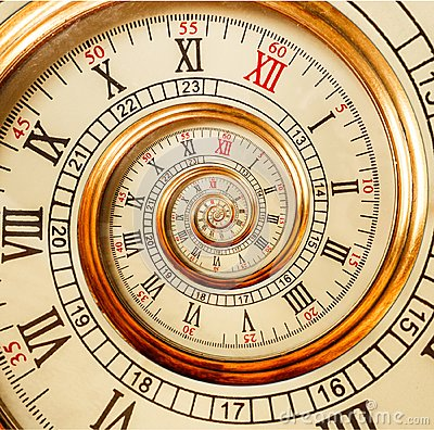 Free Antique Old Spiral Clocks Abstract Fractal Spiral. Watch Clock Spiral Unusual Texture Fractal Pattern Background. Golden Watch Stock Photos - 107941323