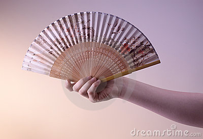 Antique oriental fan