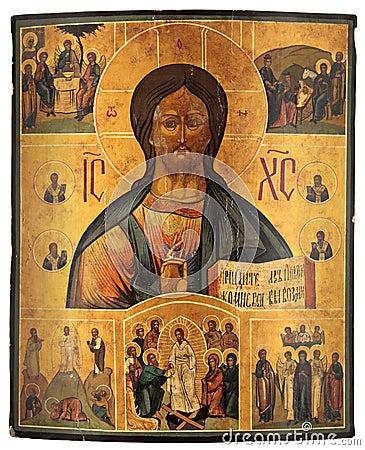 Antique orthodox icon