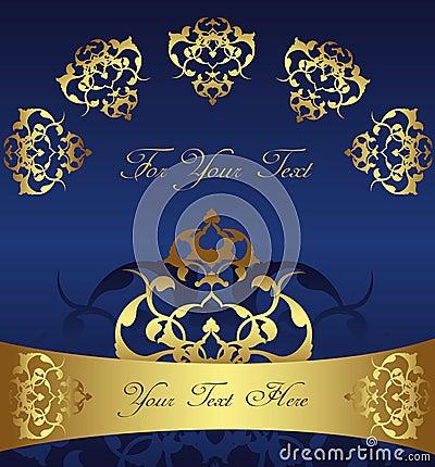 Antique ottoman gold design