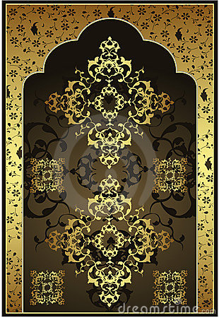 Free Antique Ottoman Gold Design Royalty Free Stock Photography - 8842567