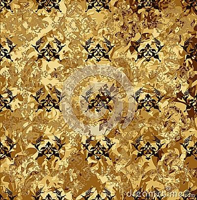 Antique ottoman grungy wallpaper design