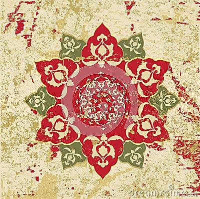 Antique ottoman grungy wallpaper raster design