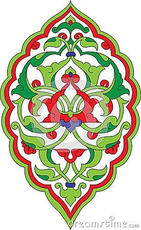 Antique ottoman illustration design