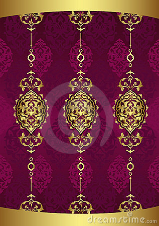 Antique ottoman wallpaper illustration design