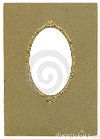 Antique Oval Frame Stock Photo - Image: 20083270