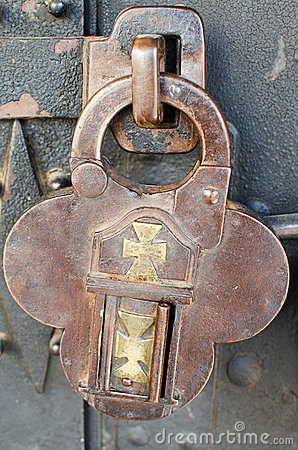 Antique padlock