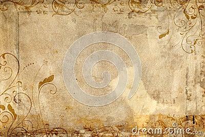 Antique paper featuring flourish design