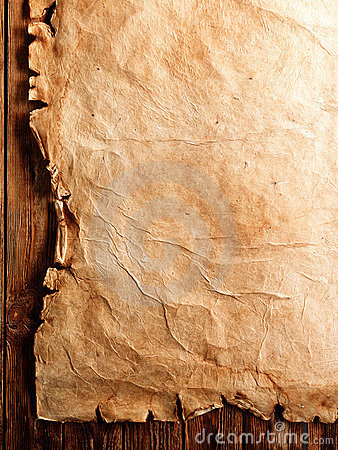 Free Antique Parchment On Wood Stock Images - 15550154