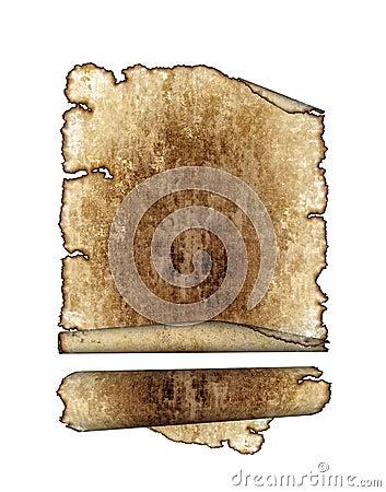 antique parchment paper scrolls, texture backgrou