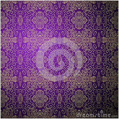 Antique pattern background. Purple seamless