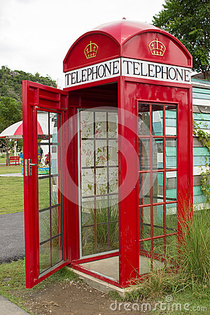 Antique phone booth.