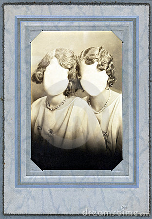 Antique Photo Frame from the 1920 s with faceless