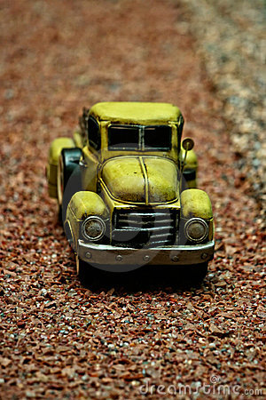 Antique pick-up car miniature