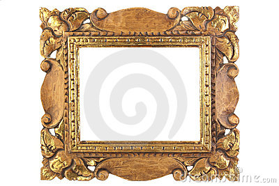 Antique picture frame.