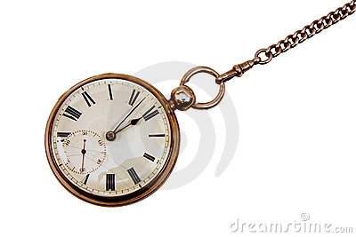 Antique pocket watch on chain
