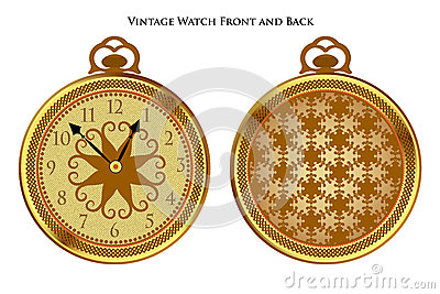 Antique pocketwatch front and back