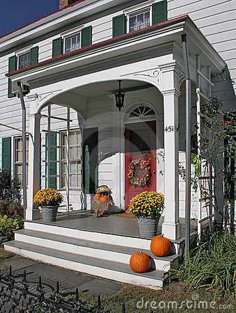 antique porch,autumn