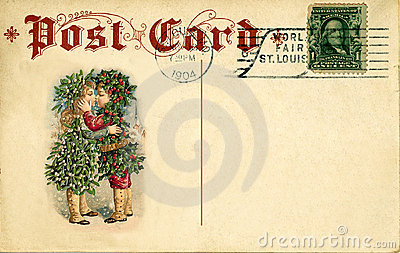 Antique postcard christmas