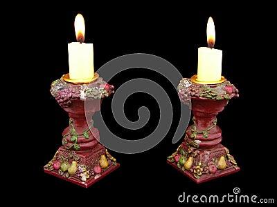 Antique pot candelabras