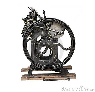 Free Antique  Press With Gold Trim Stock Image - 2151261