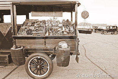 Antique Produce Vending Truck