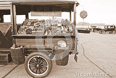 Antique Produce Vending Truck