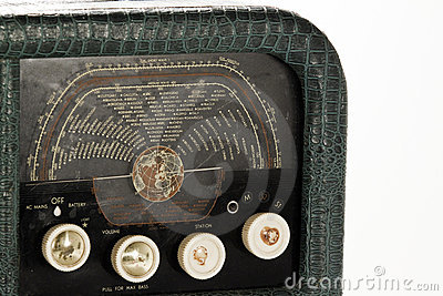 An antique radio