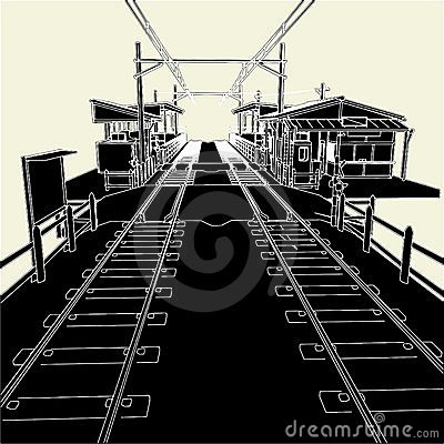 Free Antique Railway Station Vector 01 Stock Photography - 14436302