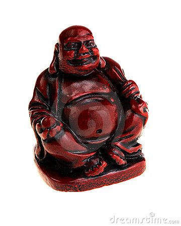 Antique Red Budda statue