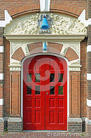 Free Antique Red Double Door Stock Photography - 26188642