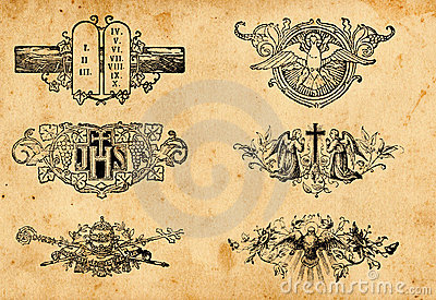 Antique religion symbols