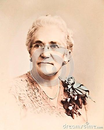 Antique Reto Portrait/Woman