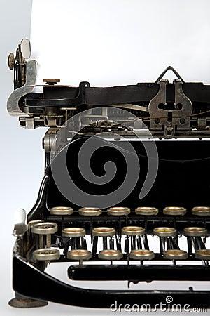 Antique Retro Typewriter Close-up