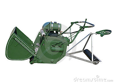 Antique Ride-on Lawnmower Royalty Free Stock Photos - Image: 18813968
